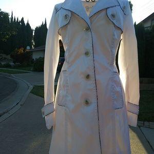 Jessica Simpson White Trench Coat Sz EX Small